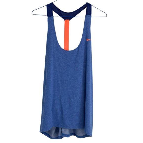 Nike blue and Orange racerback tank top XL